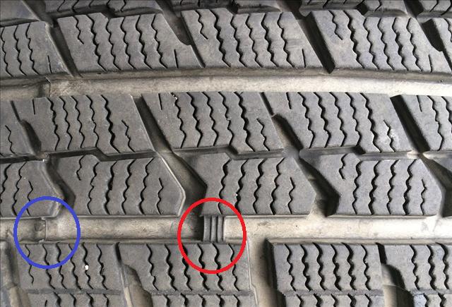 「冬タイヤ スリップサイン 画像」の画像検索結果