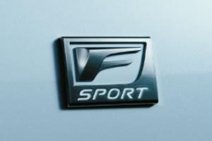 レクサスLS,新型.Fスポーツのエンブレム画像