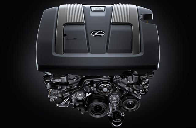 レクサス,LEXUS,新開発の3.5ℓV6ツインターボエンジンの写真
