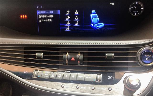 レクサスLS,新型,LS500hFスポーツのナビゲーション画像