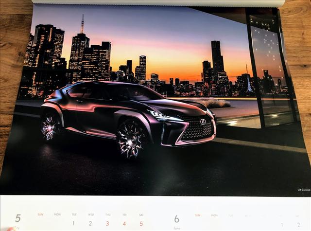 レクサスカレンダー2018のUXコンセプトの画像