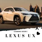 レクサスUX新型をななめ前から見た画像