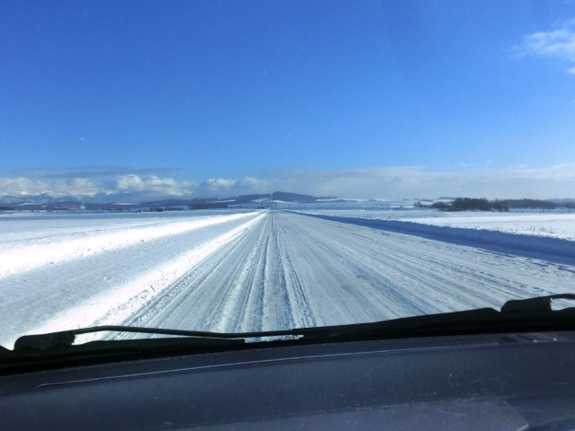 レクサス,LEXUS,雪道の写真