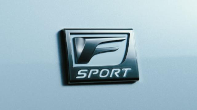 レクサスLS,新型,Fスポーツのエンブレム画像