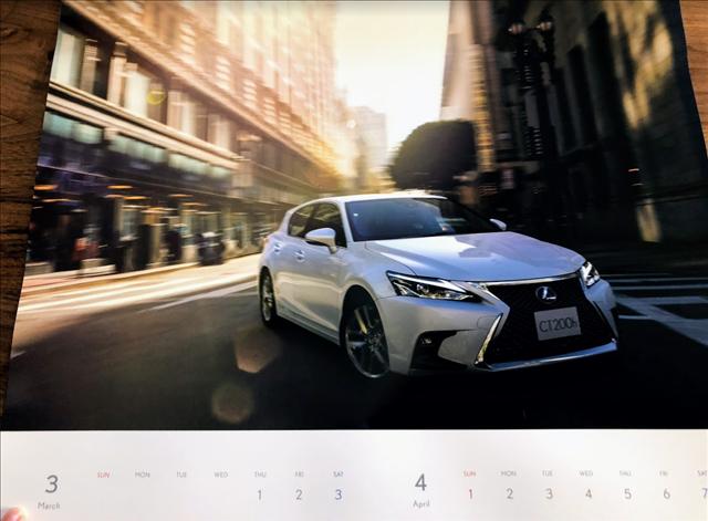 レクサスカレンダー2018のCT200hの画像
