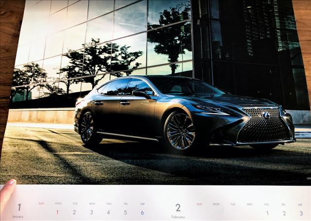 レクサスカレンダー2018のLS500hの画像