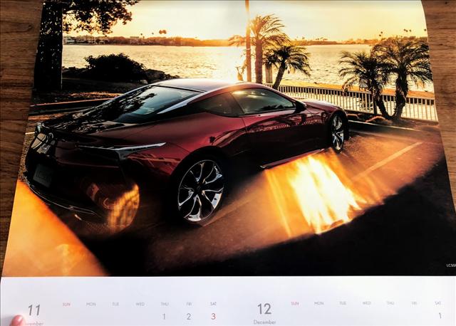 レクサスカレンダー2018のLC500の画像