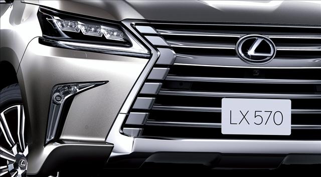 レクサスLX570のフロント画像