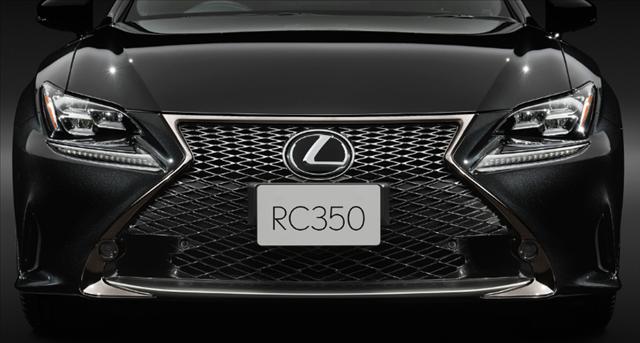 レクサスrc特別仕様車F SPORT Prime Blackのスピンドルグリル画像
