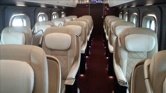 北陸新幹線グランクラスのシート画像