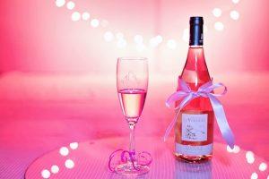 ピンクのワイン画像