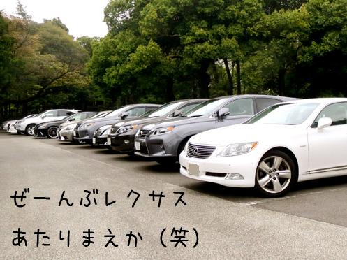 レクサス車がたくさん並ぶ画像