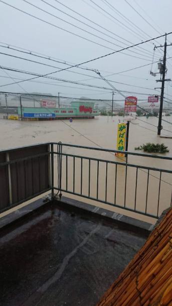 西日本豪雨災害の画像